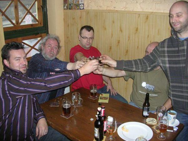 Fota z přijímání Klubu Malých Pivovarů, Plzeň, 24.11.2010; Už je to uděláno, už je to hotovo :-) !