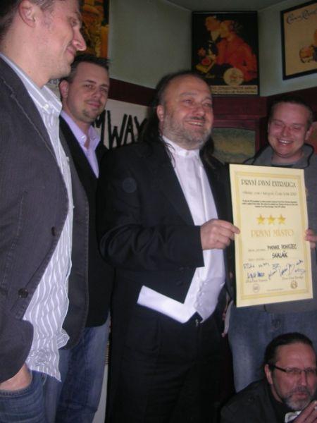 Finále Českých ležáků První Pivní Extraligy 1.12.2010 v Tramwayi. A první místo získává... Rohozec Skalák !
